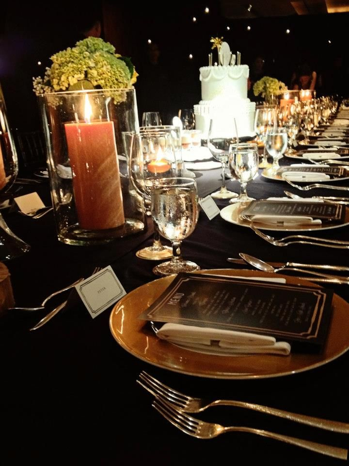 FABULOUS 40th BIRTHDAY PARTY Table Setting Place Black Golde