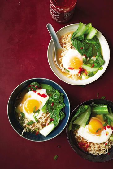 Quick Miso Ramen with Poached Eggs | Women's Health