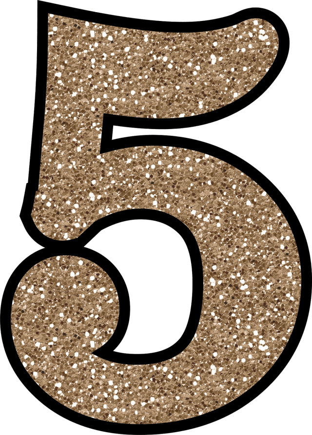 photo regarding Printable Number 5 titled Glitter With no The Mess! Cost-free Electronic Printable Glitter