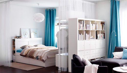 Schlafzimmer ideen ikea  Wohn Und Schlafzimmer Ideen #2 | Weißenwolffstraße | Pinterest ...
