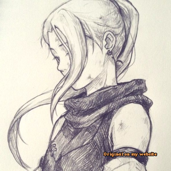 Umpin Space Fantasy Drawings Character Sketch Anime Sketch