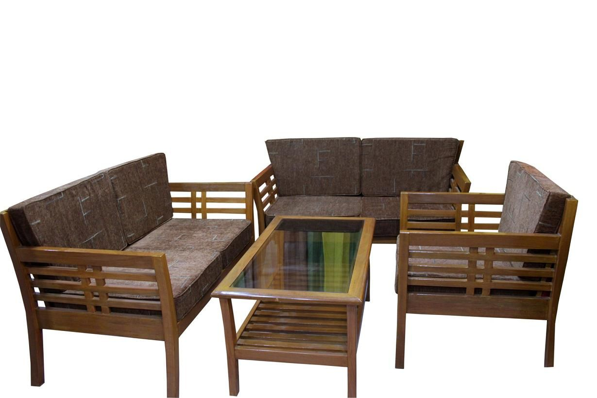 Barma Teak Wooden Sofa Clickbd Large Image Simple Wood Sofa JPEG