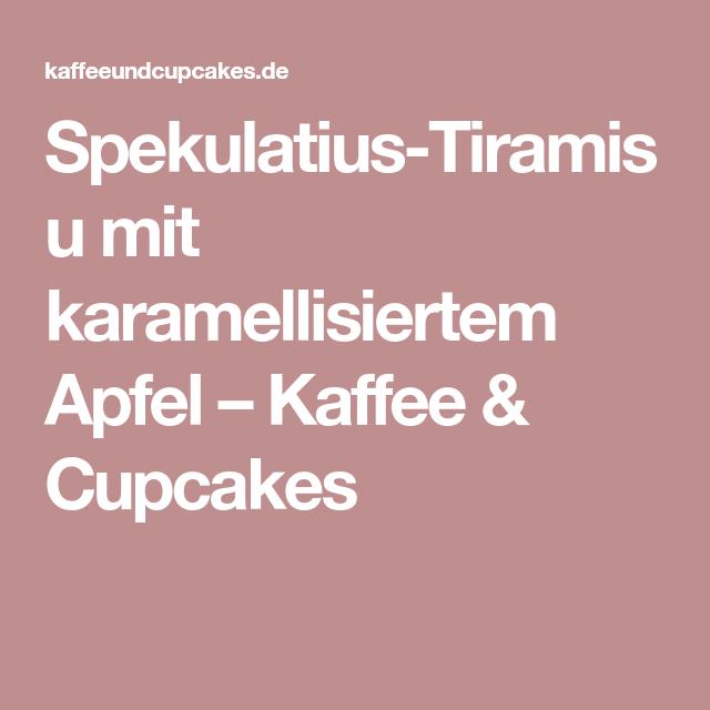 Spekulatius-Tiramisu mit karamellisiertem Apfel