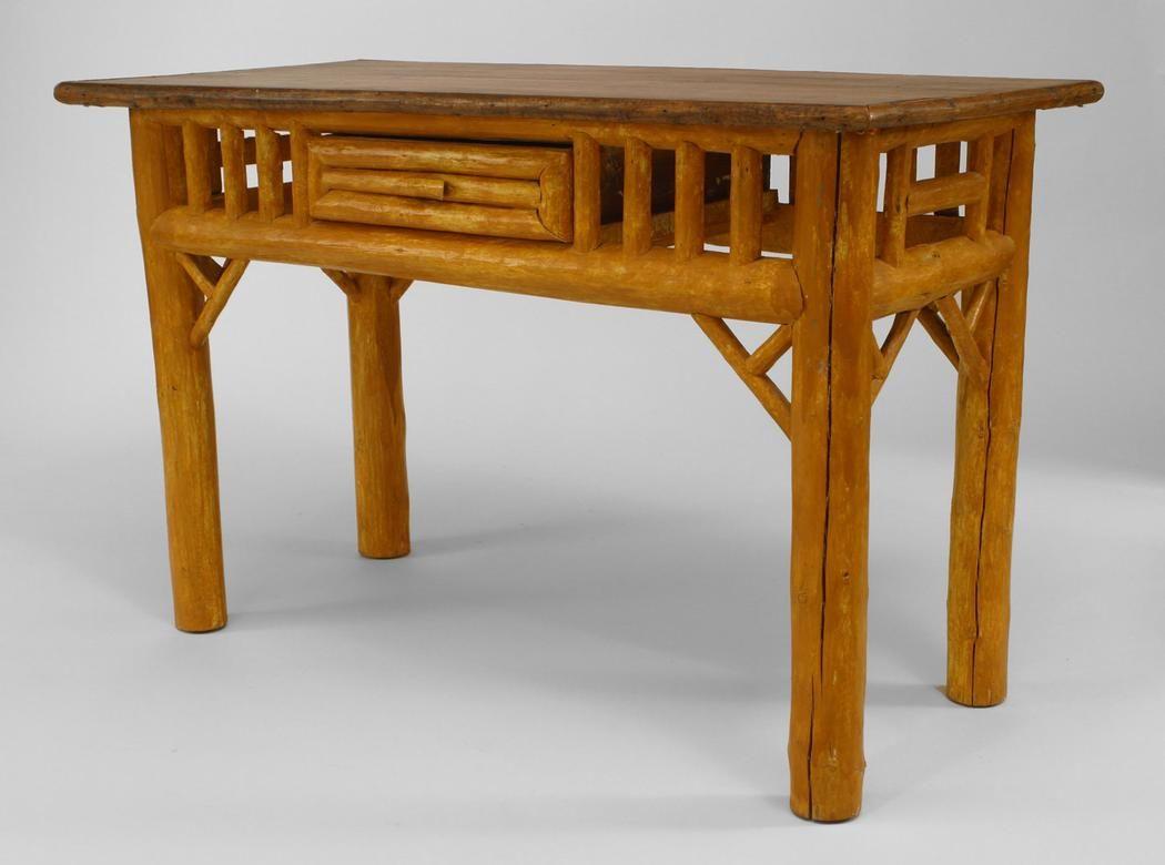 Rustic Adirondack Table Desk Cedar