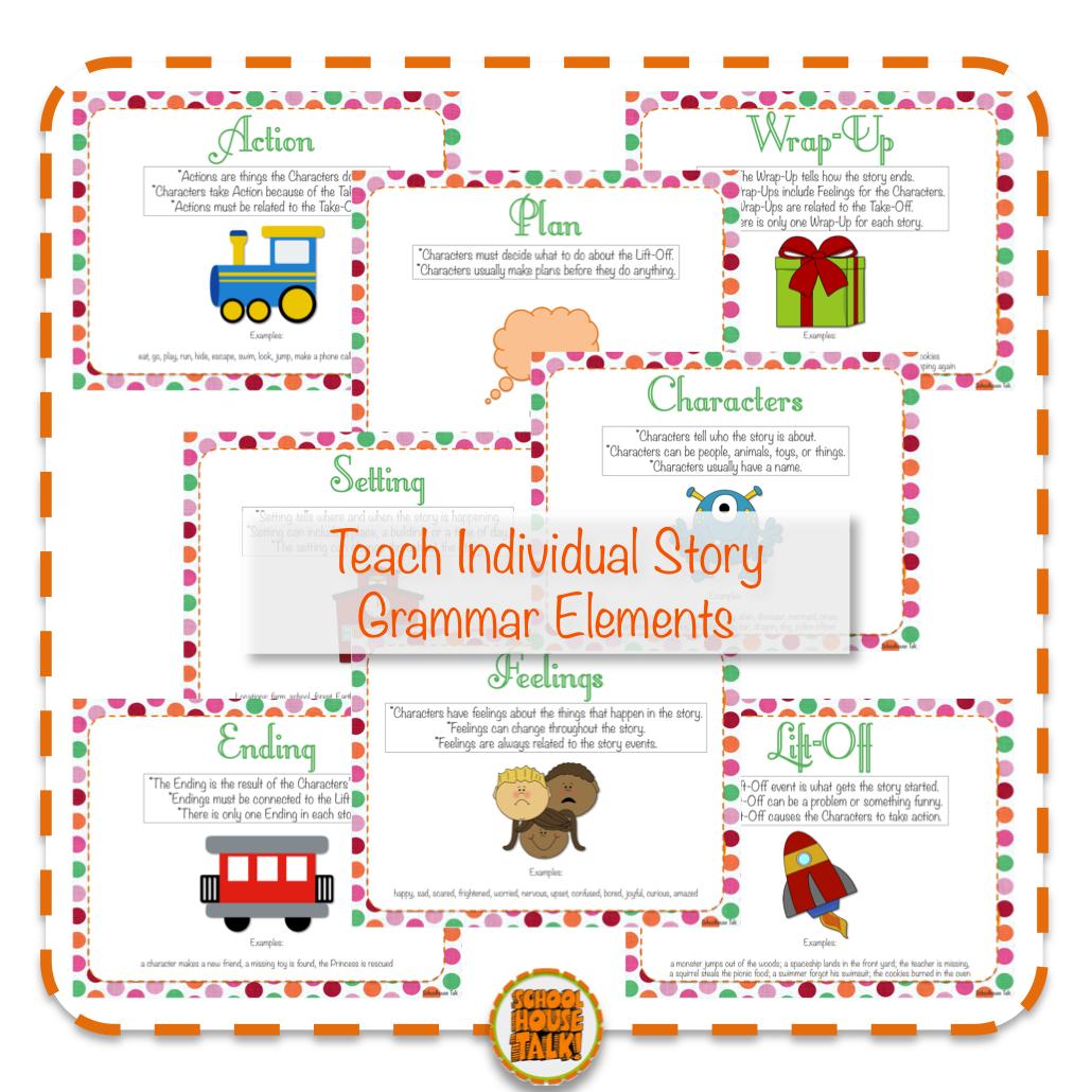 Schoolhouse Talk Story Grammar Prompts Narrative