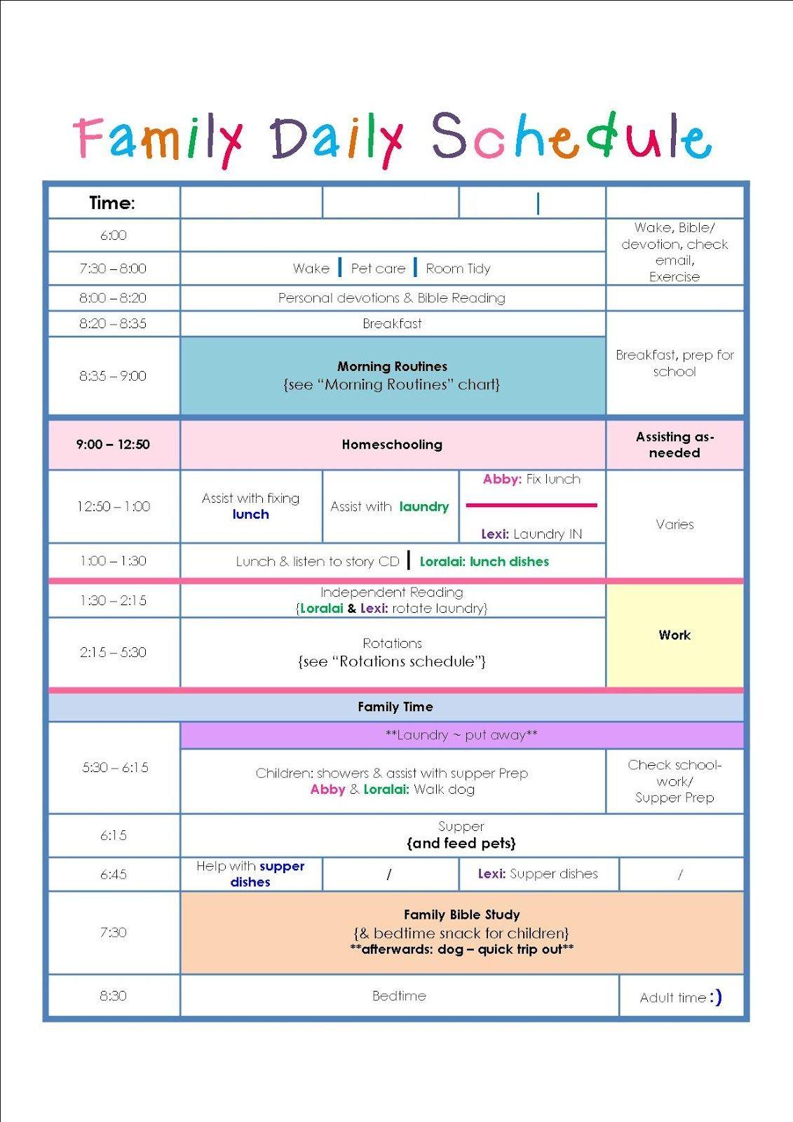 Daily Calendar Template Excel Printable