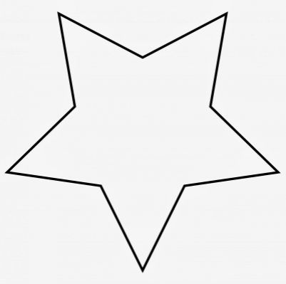 Large Star Template To Print - | PATRONES NAVIDEÑOS | Pinterest ...