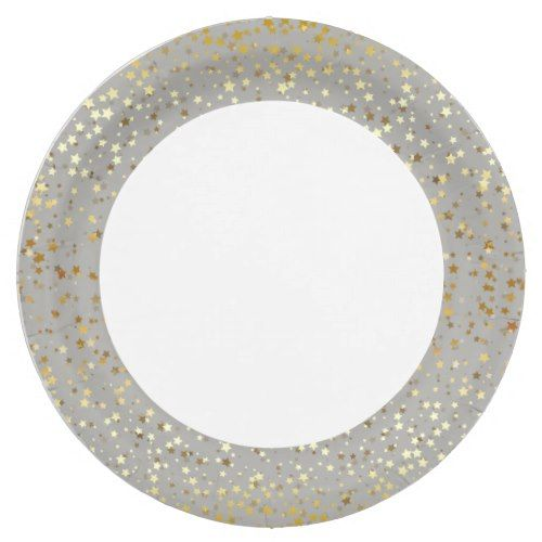 9\  Paper Plates-Golden Stars Silver-Grey Paper Plate  sc 1 st  Pinterest & 9\