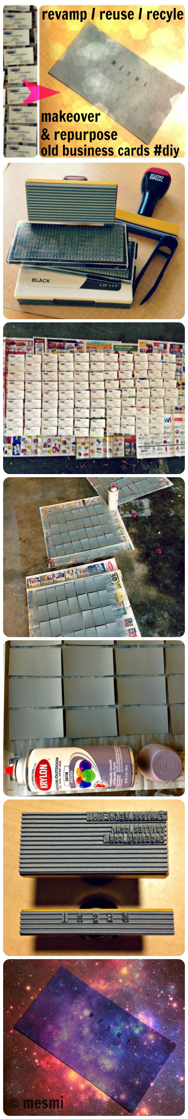 spray paint stamp kit reuse revamp recycle old business