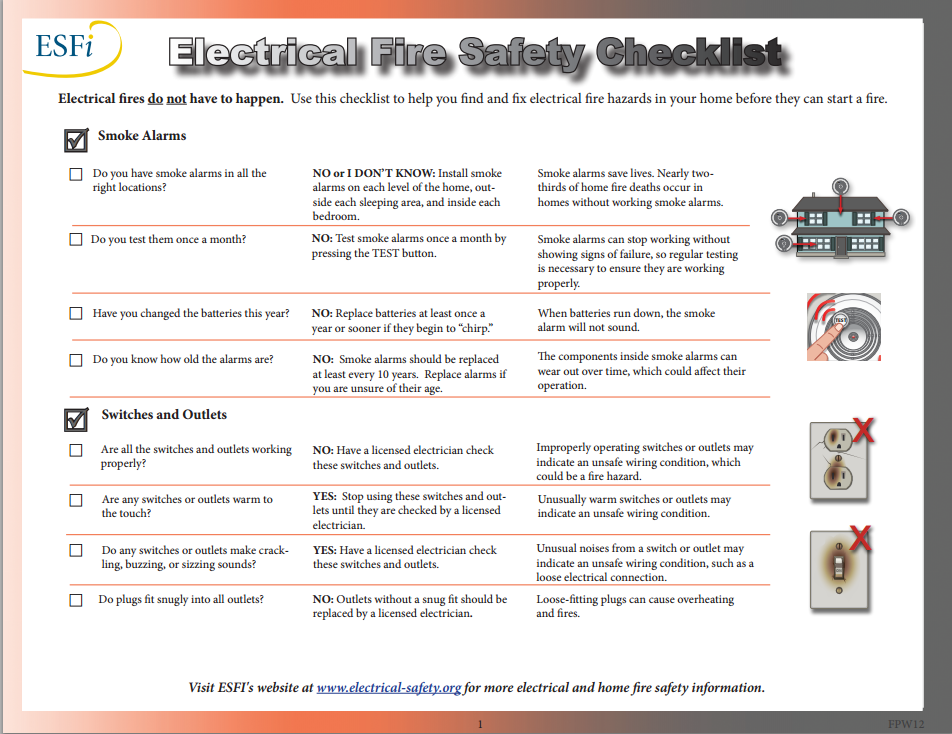 Home Electrical Wiring Checklist - Wiring Circuit •