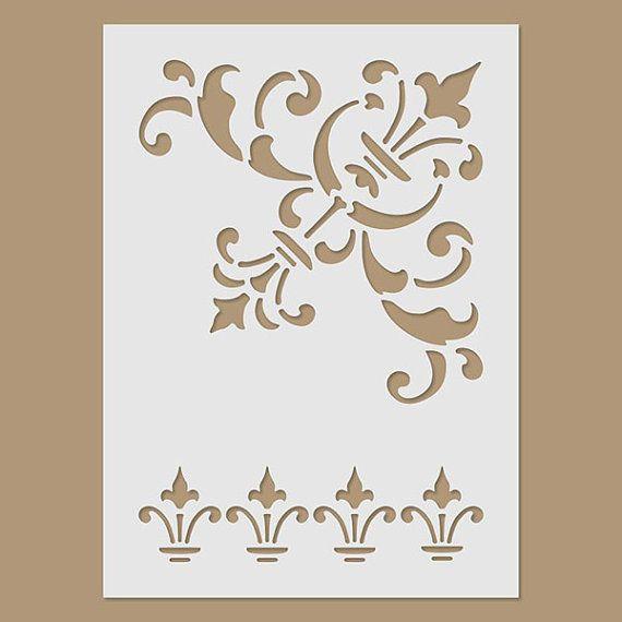 Stencil self-adhesive Plastic stencil  Pattern Stencil for Painting Decoupage decoration Handicraft Stencil corners
