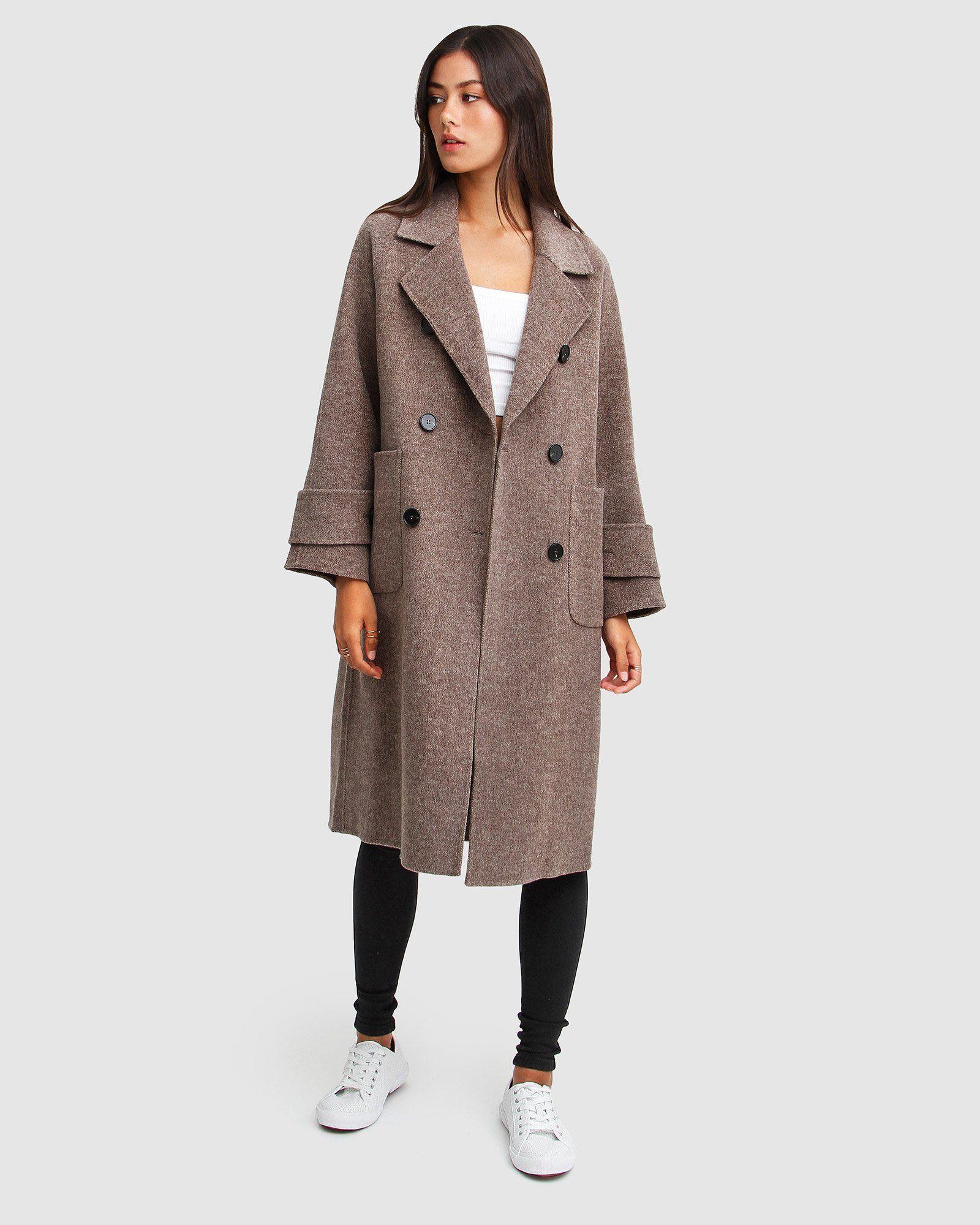 Rumour Has It Oversized Wool Blend Coat Walnut Belle Bloom Wool Blend Coat Double Breasted Coat Women Coat [ 2000 x 1600 Pixel ]