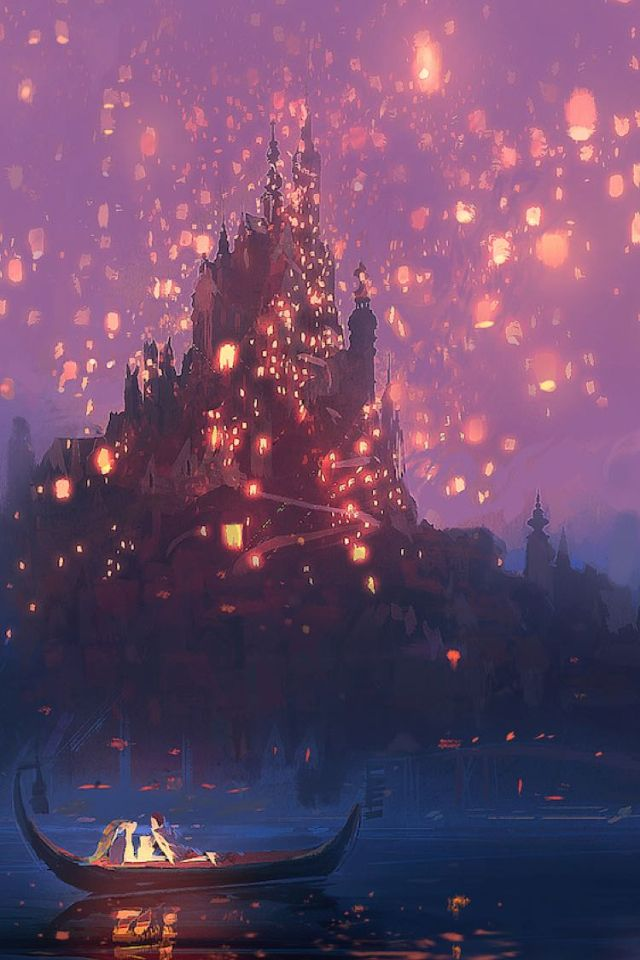 Tangled lanterns concept art Disney Wallpaper, Tumblr Wallpaper, Screen Wallpaper, Kawaii Wallpaper,