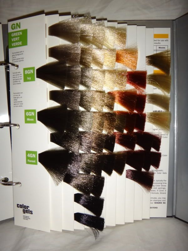Redken Color Gels Permanent Conditioning Binder Hair Color Chart