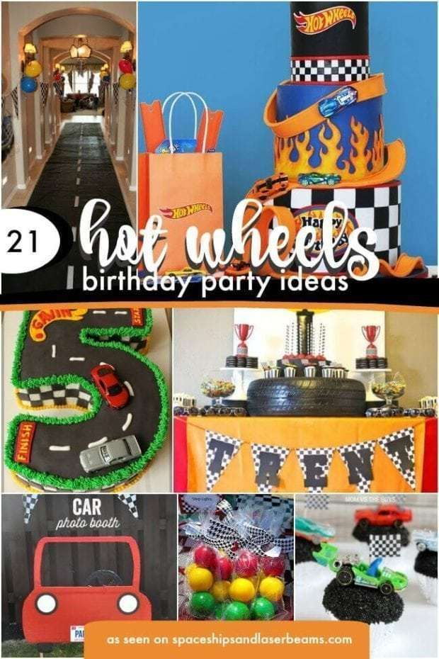 Rev your Hot Wheels birthday theme with these 21 party ideas For a show-stopping party entrance, check out the DIY roadway and all the cool party supplies. The DIY car frame craft and the trophy race car party favors are certain winners and you will love the Hot Wheels cupcakes and cakes too. Race through ... Read More about 21 Hot Wheels Birthday Party Ideas