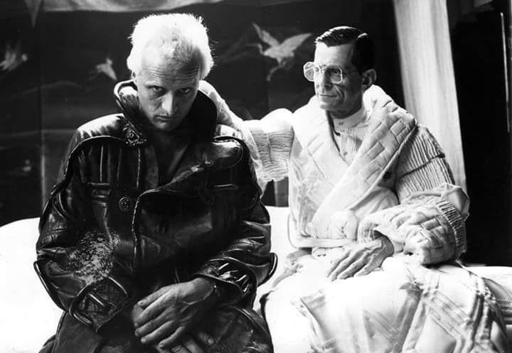 Rutger Hauer as Roy Batty, and Joe Turkel as Dr. Eldon Tyrell.