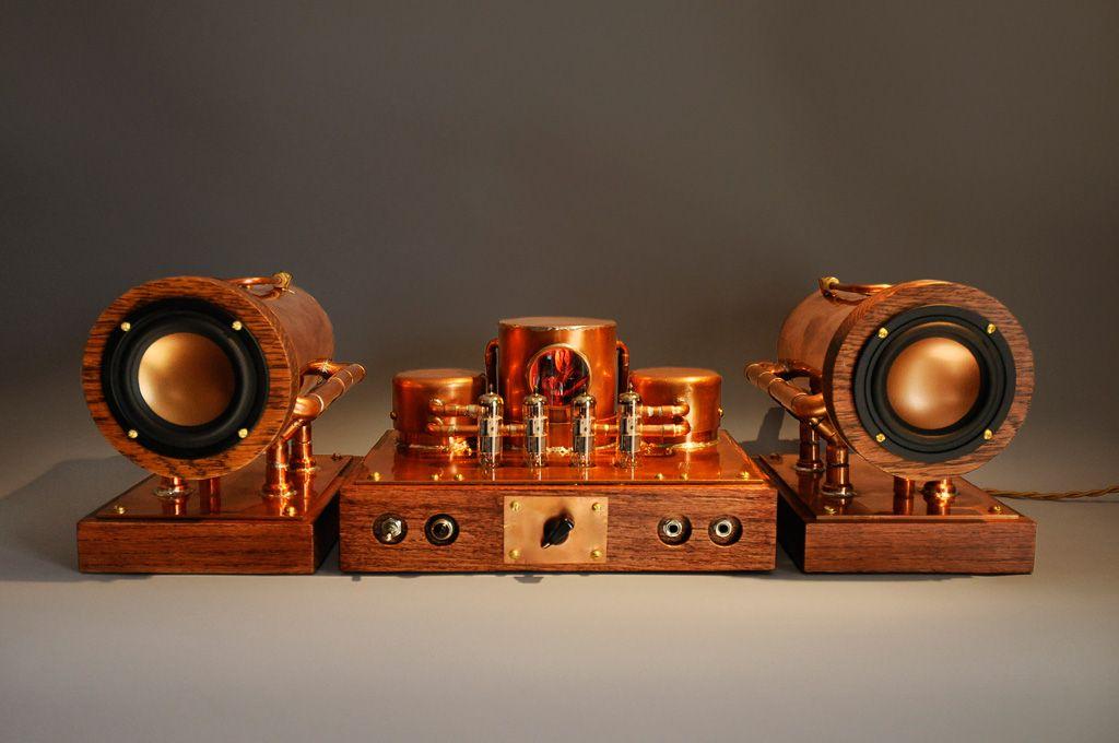 K-12G Tube Amp Kit with speakers www.coppersteam.com | DIY ...