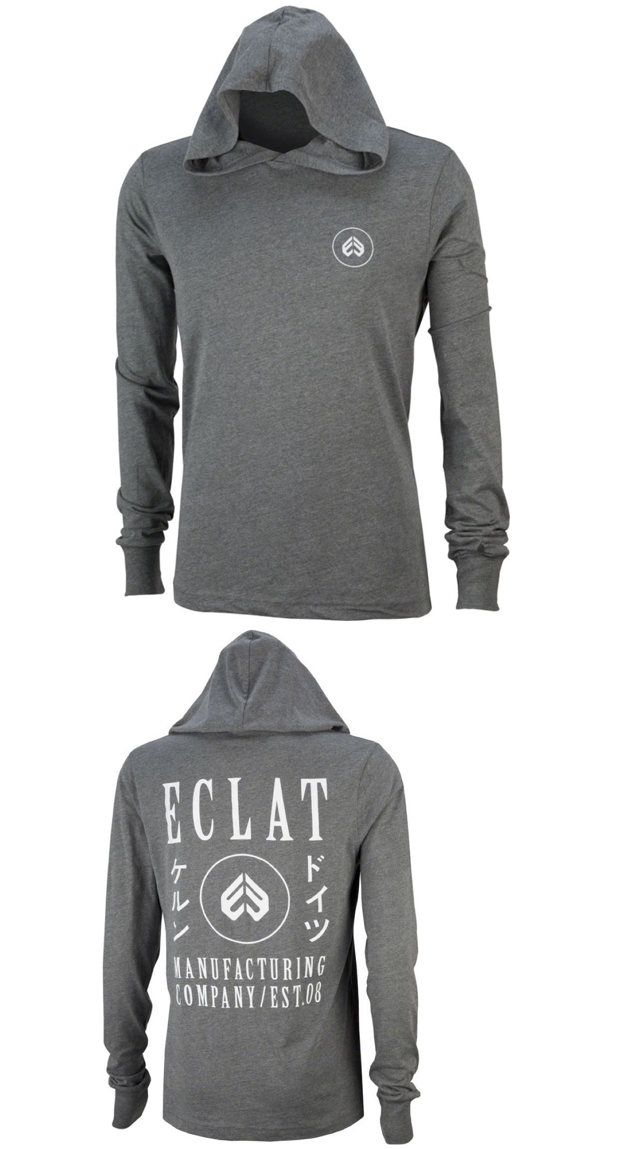 Casual T-Shirts and Tops 177851  Eclat Bmx Bike Circle Icon Hooded Long  Sleeve T-Shirt Heather Gray -  BUY IT NOW ONLY   39.99 on  eBay  casual   eclat ... a4a099e3e