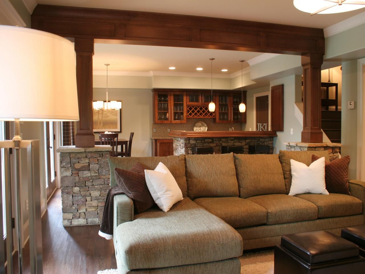 Basement design ideas basements hgtv and beams - Basement remodelling ideas ...