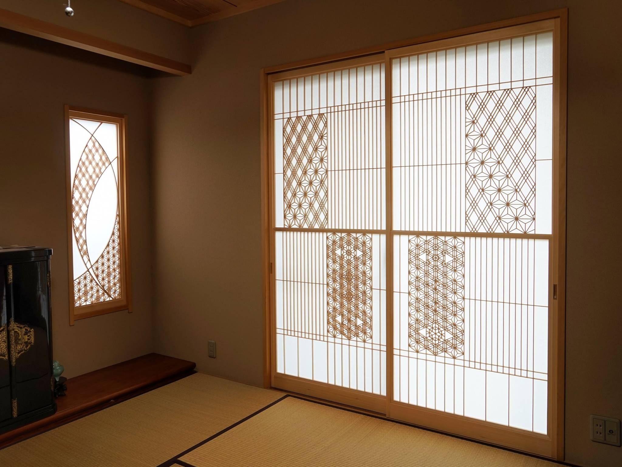 Kumiko Shoji Screen by Inomata Art Fittings Kumiko - Japanese lattice often  used for shoji screens