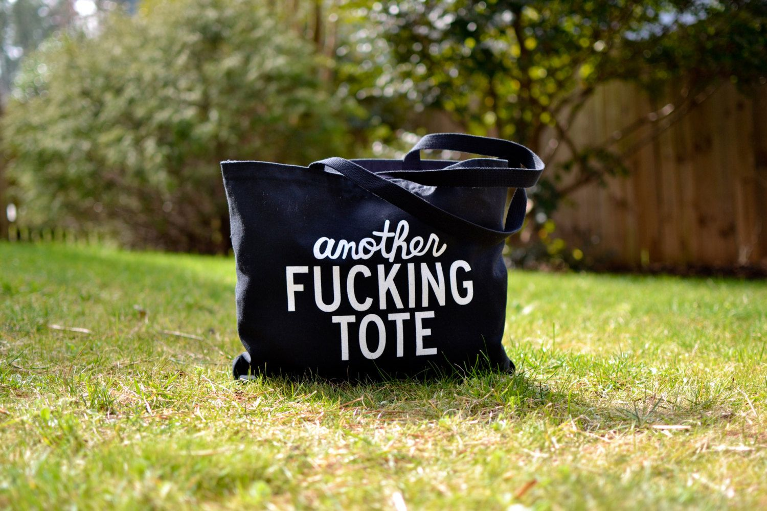 Another+Fucking+black++white+Tote+by+AnotherFingTote+on+Etsy,+$19.95