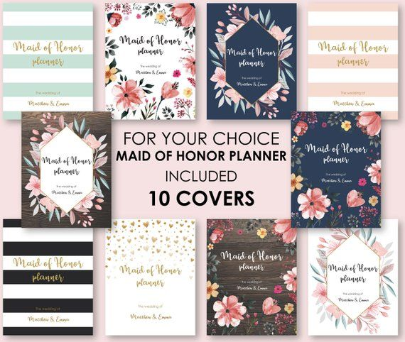 graphic about Maid of Honor Printable Planner identified as Printable Maid of Honor and Bridesmaid Planner, Printable