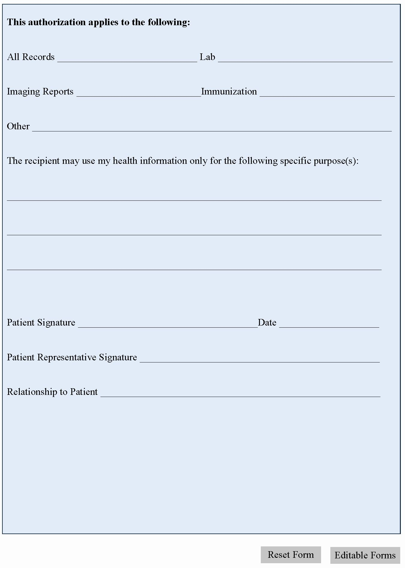 Generic Medical Records Release Form Awesome General Medical Release Form Medical Records Medical Records
