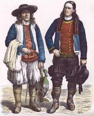 Traditional French Womens And Mens Clothing Trachten Der Bretagne French National Costume