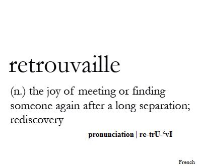Retrouvaille The Joy Of Meeting Or Finding Someone Again After A