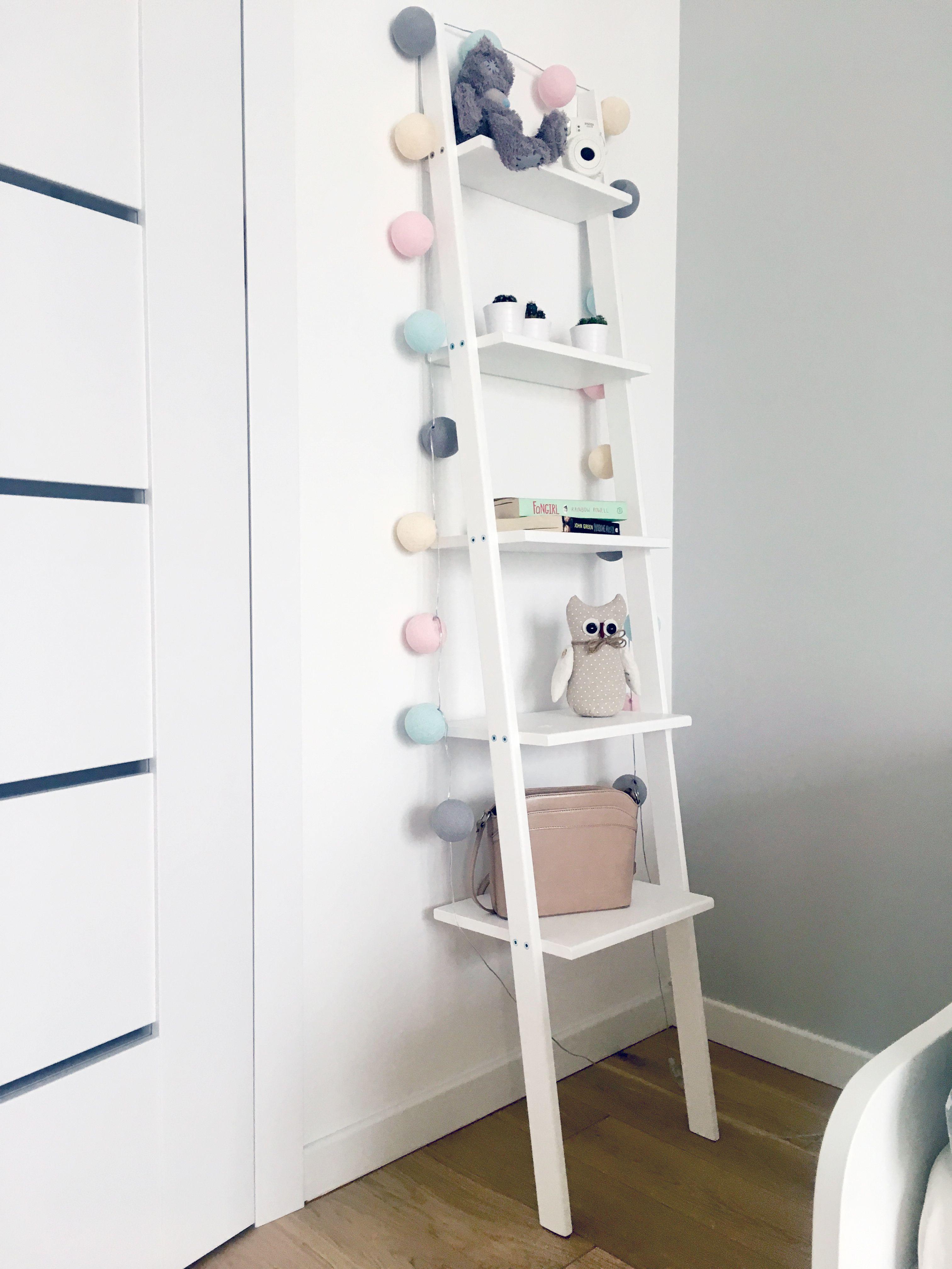 Drabinka Regał W Pokoju Dziecięcym Ladder Laddershelf