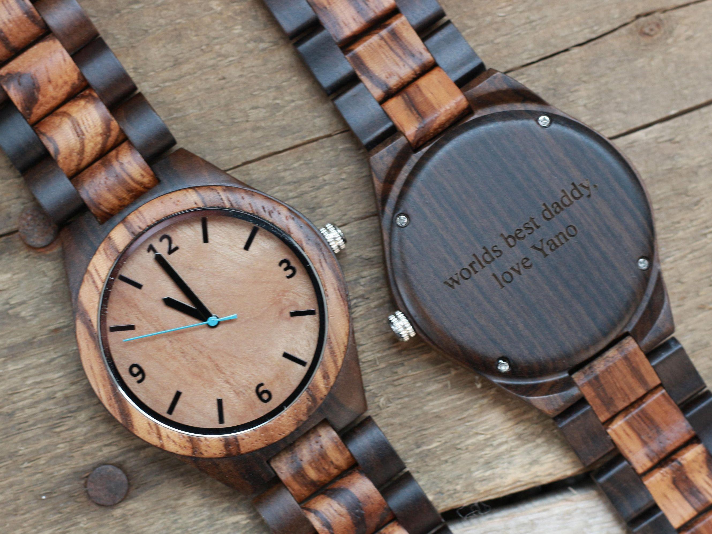 Groomsmen Watches Engraved Wood Watch Mens Wooden Watch Etsy Wooden Watches For Men Engraved Wood Watch Wooden Watch