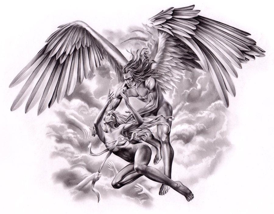 The Falling By Ca5per On Deviantart Art Tattoo Fallen Angel Tattoo Angel Tattoo Designs
