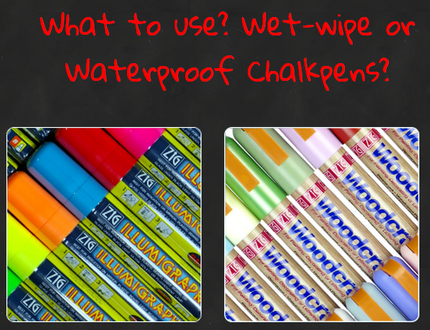 Blog - Chalkpen Tips - Should you be using waterproof or wet wipe chalkpens?