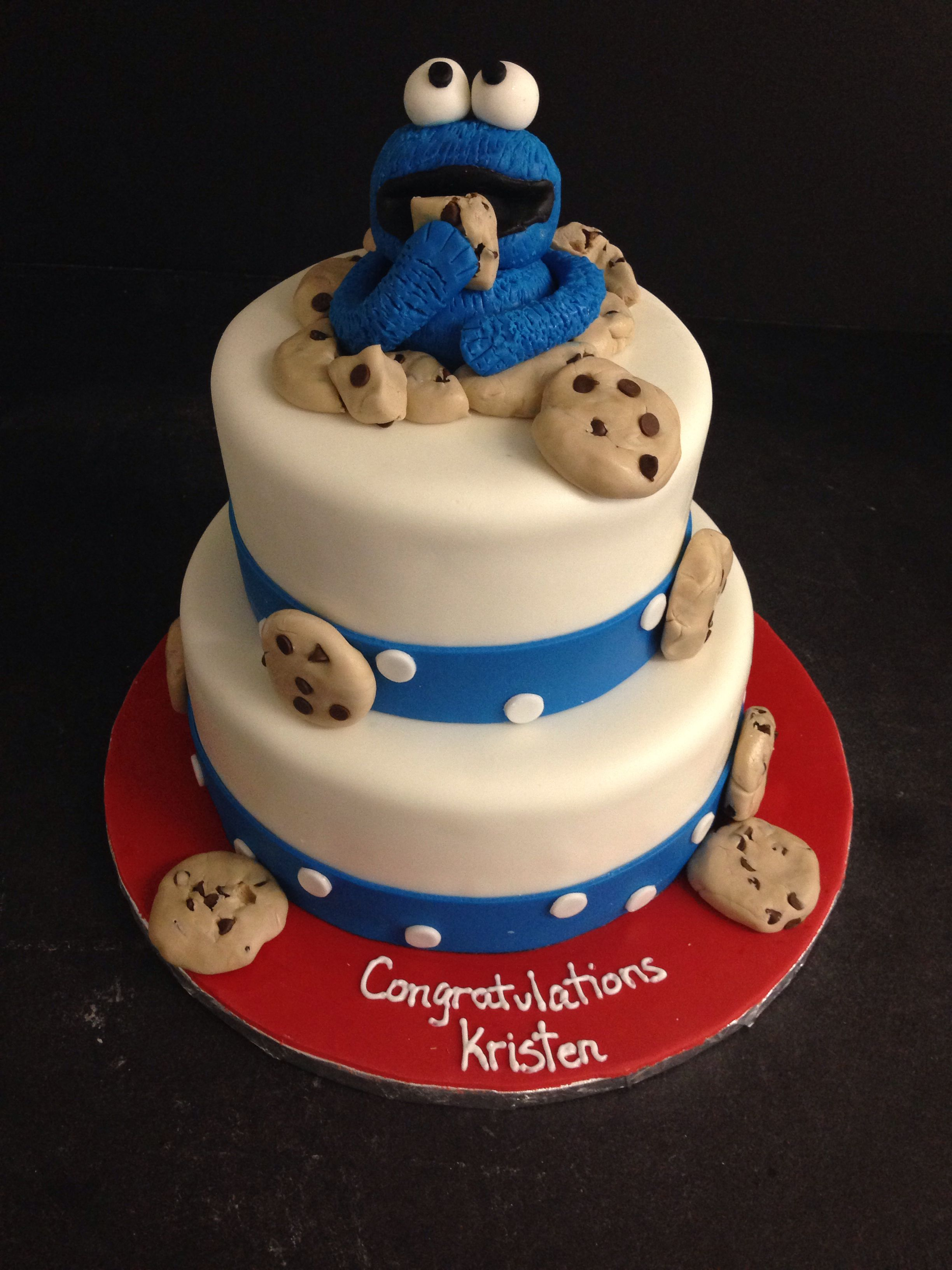 baby shower cookie monster cake baby cakes baptism shower