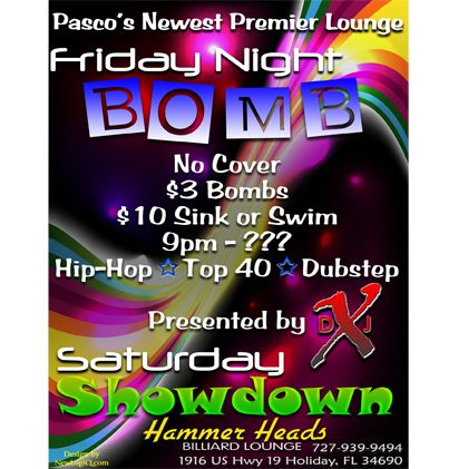 Friday Night Bomb And Saturday Showdown Club Flyer  Event Flyers