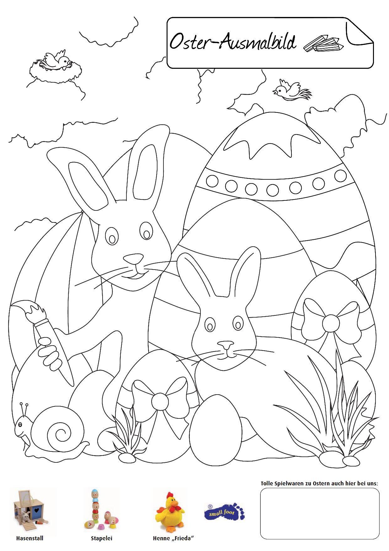 Oster-Ausmalbild. Eine weitere Malvorlage passend zum Osterfest ...