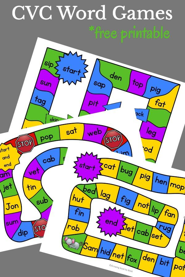 It is a photo of Playful Printable Phonic Games