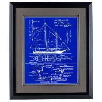 Ship Blueprint Framed Wall Art sea Pinterest Framed wall art - copy plane blueprint wall art
