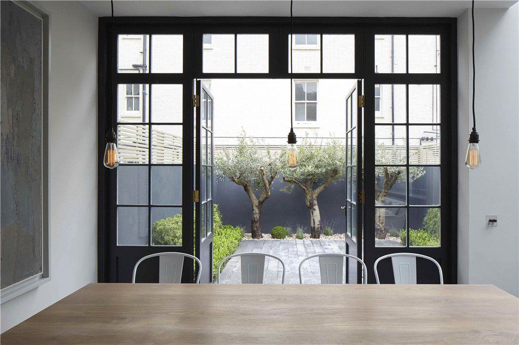 Great small garden idea   London   French doors interior ...