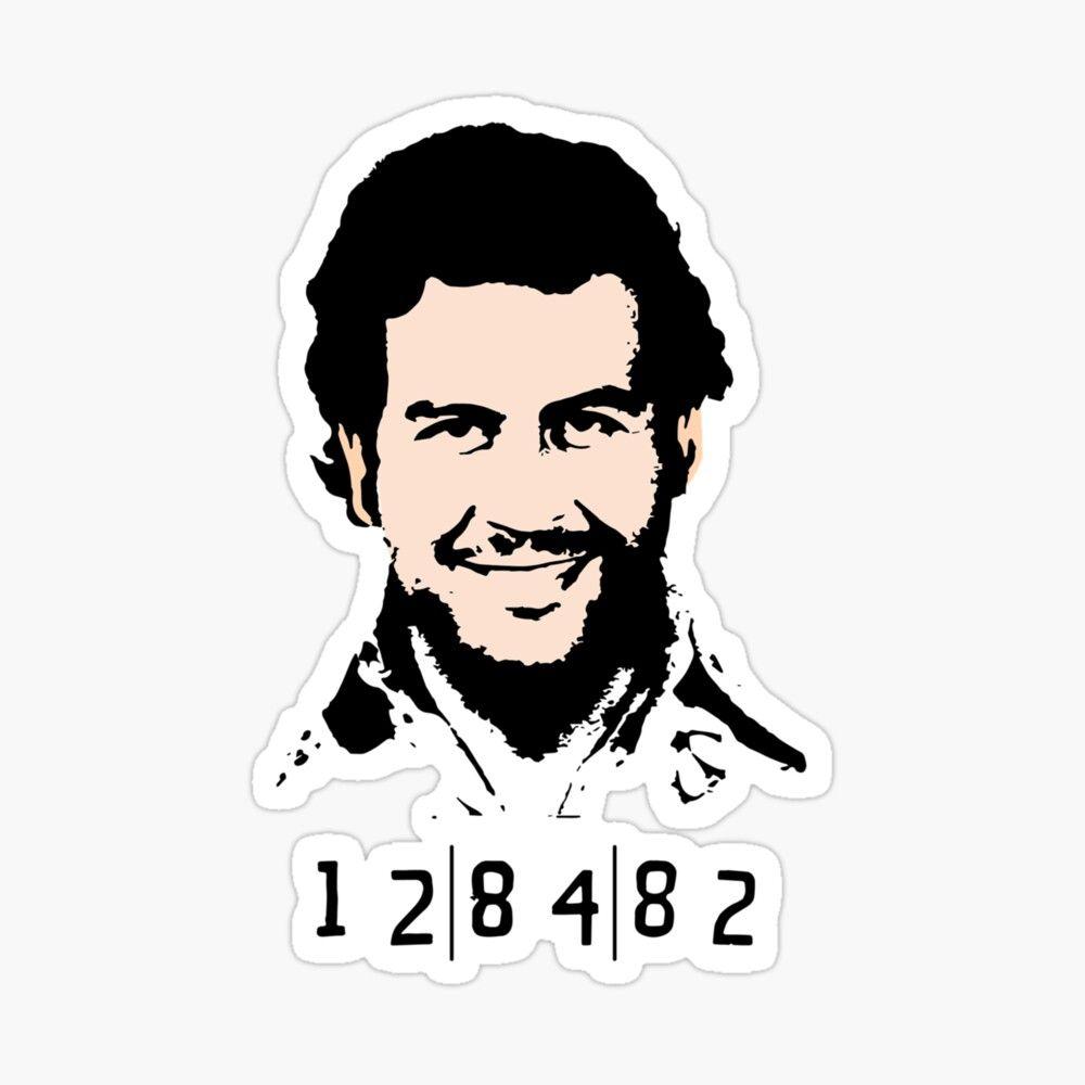 Pablo Escobar Pablo Escobar 128482 Escobar Mugshot Sticker By Emma Eve In 2021 Pablo Escobar Escobar Pablo