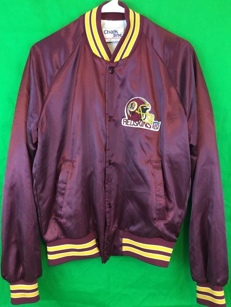 best service 0c6f7 d9b6e Vintage Washington Redskins NFL Jacket Quilted USA Medium ...
