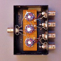 4-port-box home brew antenna splitter | Ham radio | Ham radio