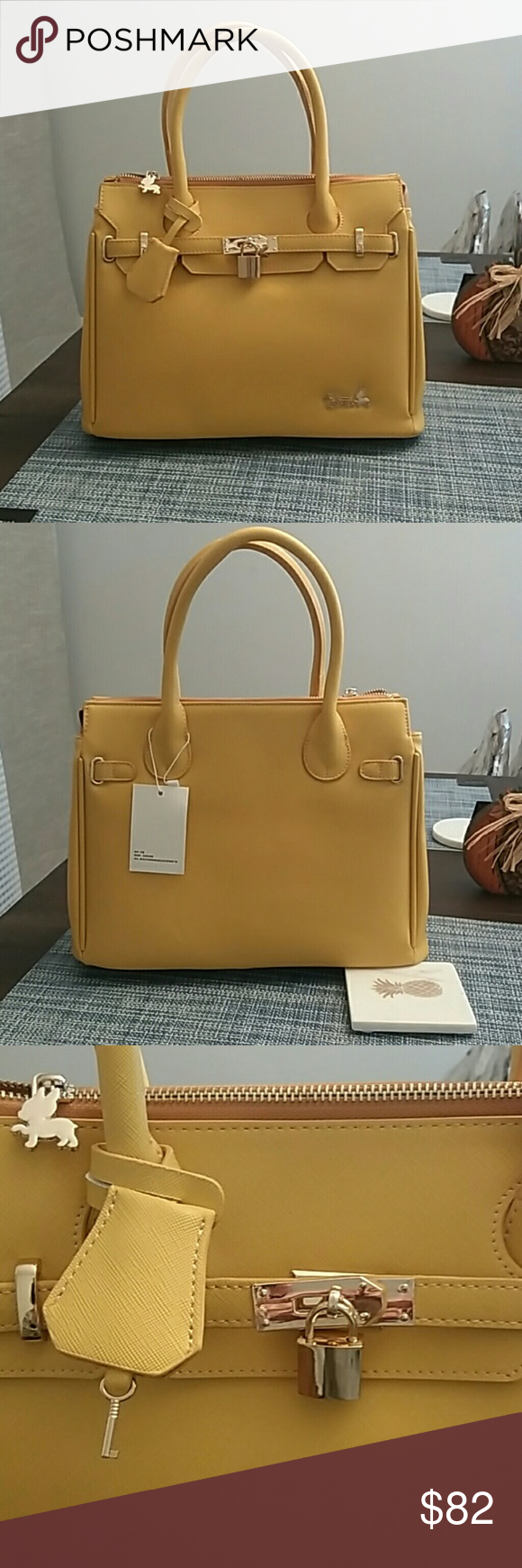 929efd50220c RB Vegan Faux Paris Classic Tote Bag-Yellow  Vegan Leather  Collection Name