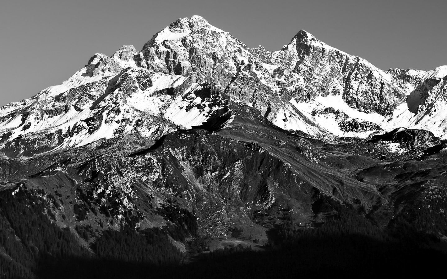 Alps Black And White Wallpaperswebs Black And White Black Wallpaper
