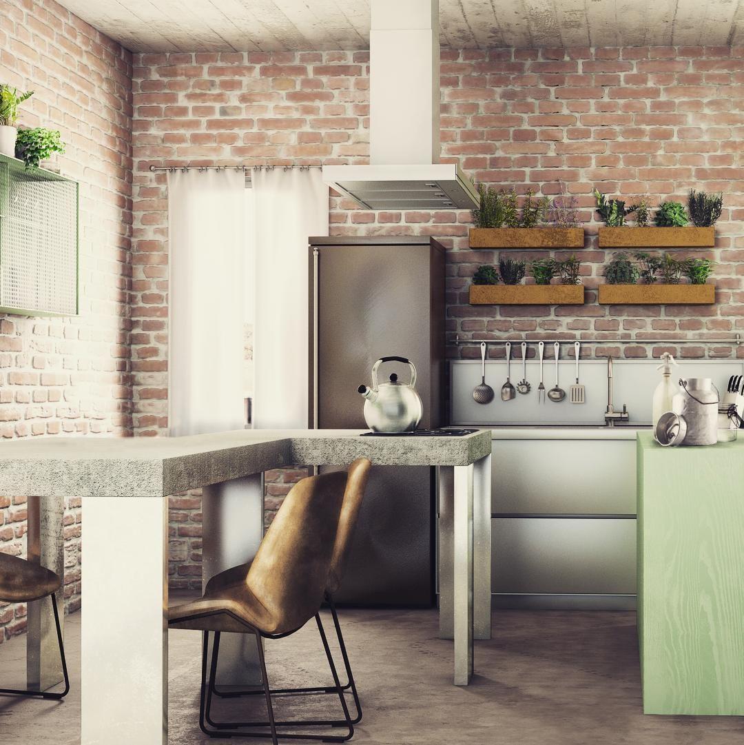 Cucina. #vray #adobecc #photoshop #photo #rendering #render #c4d #cinema4d #c4dzone #3dsmax #3d #corona #interiors #interiordesign #architecture #exteriordesign #exteriors #archilovers by enricoborellini