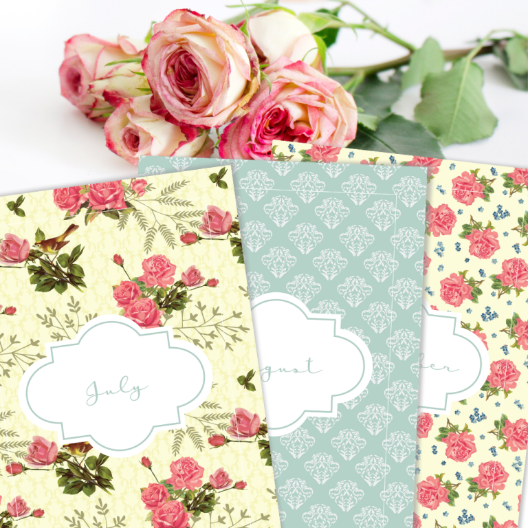 Free Printable Binder Covers - Shabby Chic Floral