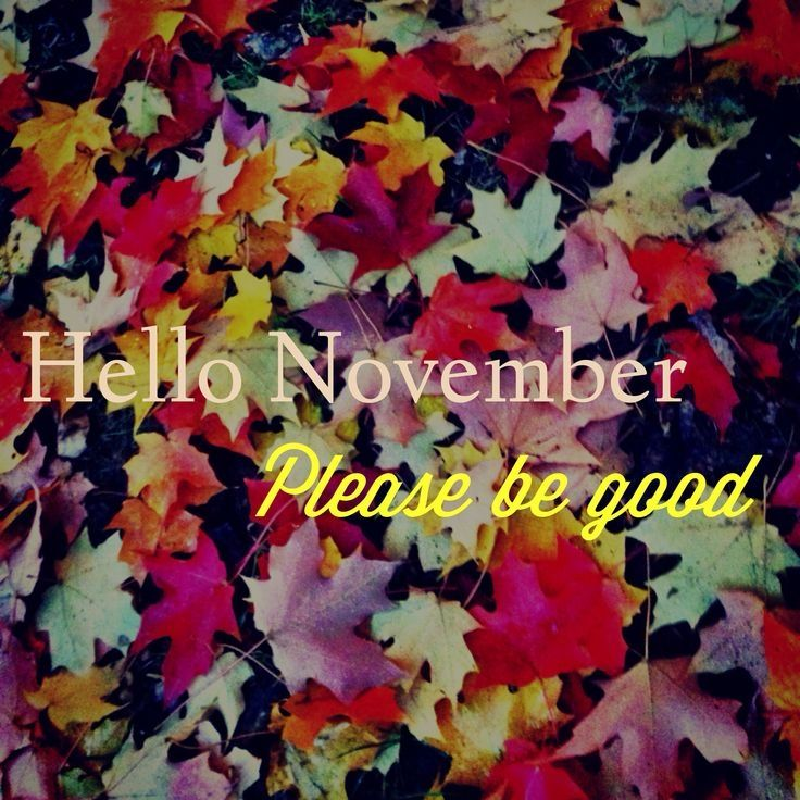 Superior Hello November, Please Be Good November Hello November November Quotes  Welcome November Hello November Quotes