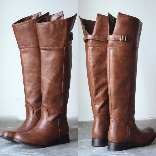 Rider's womens tall distressed riding boots - tan | An, 2! and All.