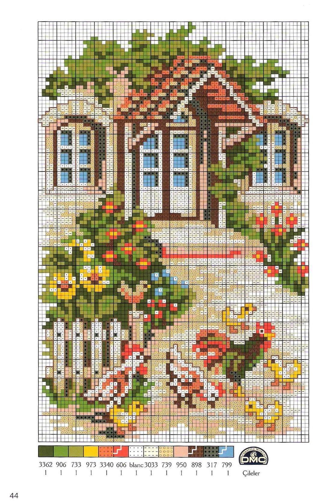 Вышивка крестом домики схемы разнообразных построек | Домики | Pinterest