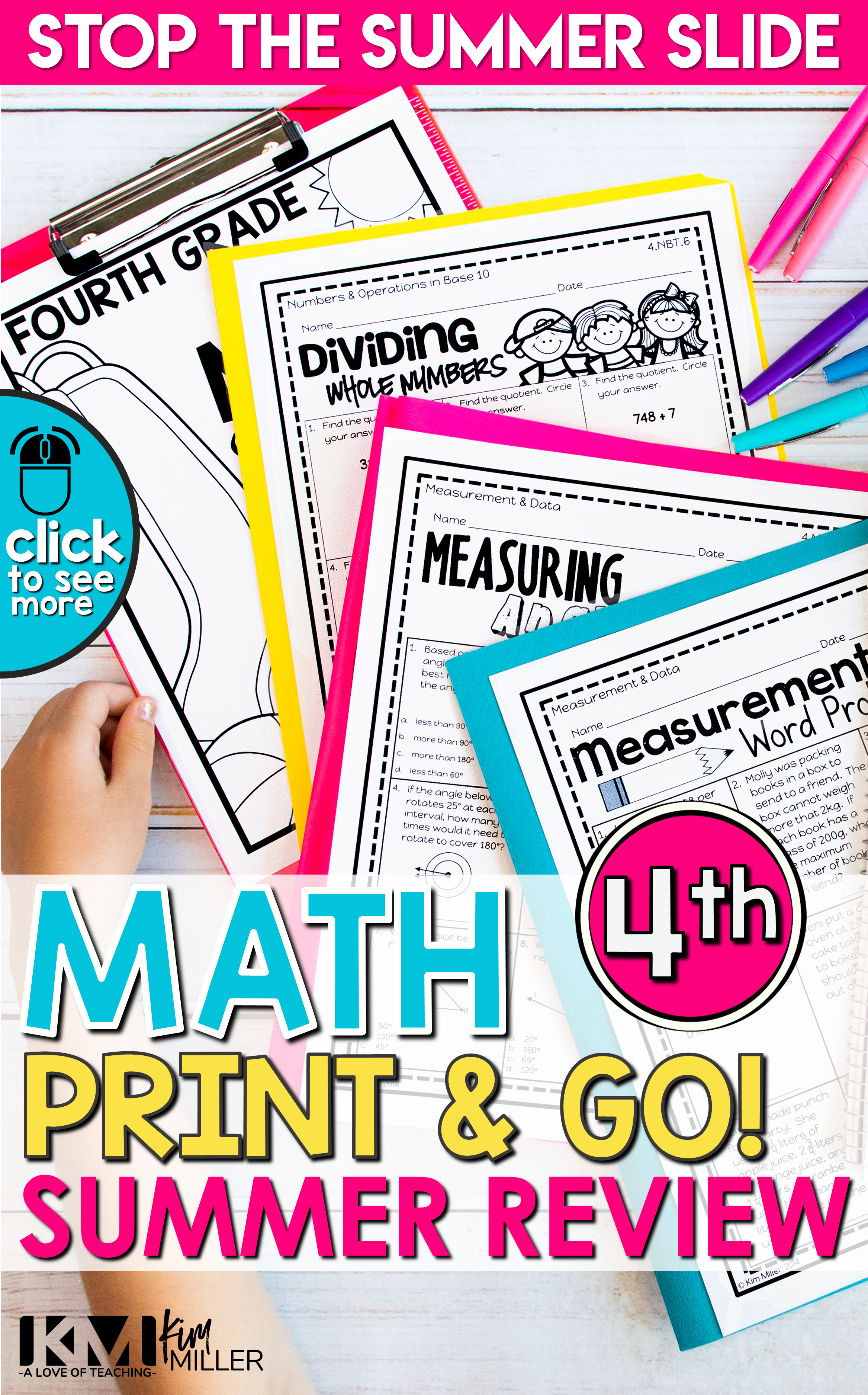 Math Review Printable Packet Distance Learning Summer